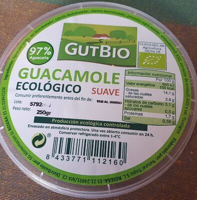 Guacamole ecológico suave - Producto - es
