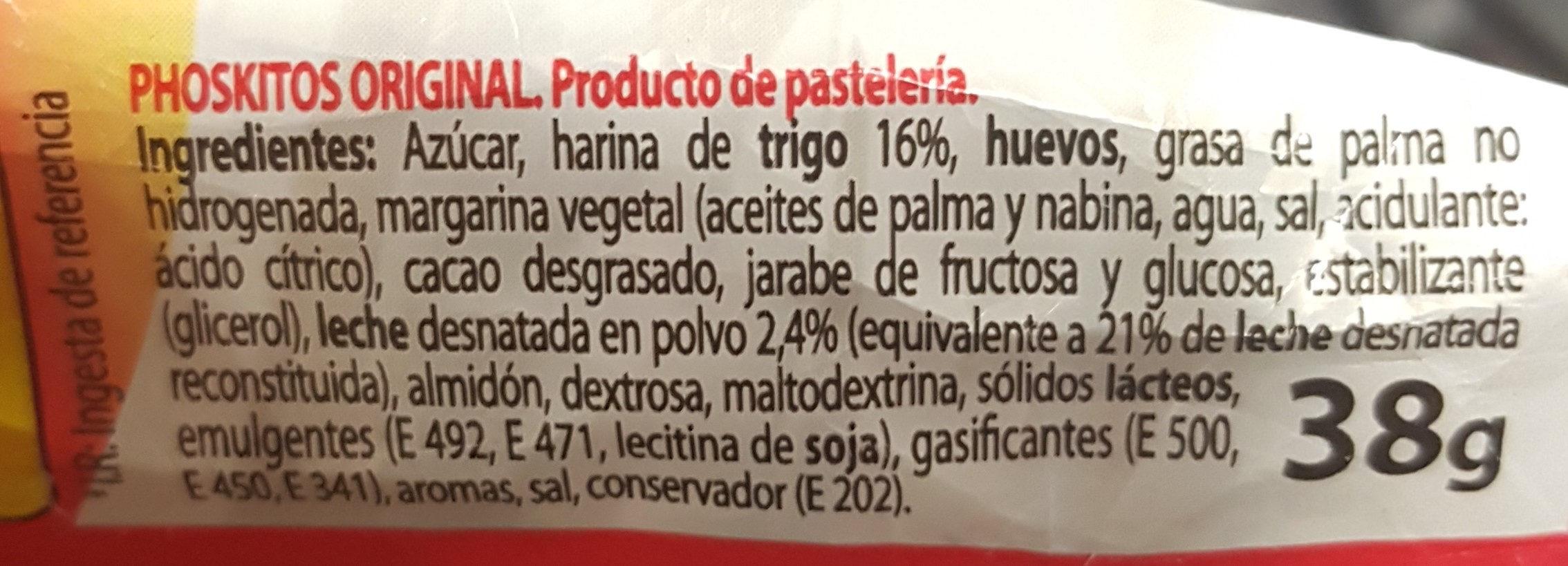 Phoskitos - Ingredientes