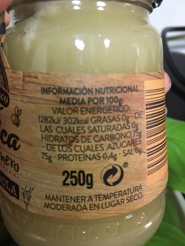 Rustica Miel de Romero - Información nutricional - es