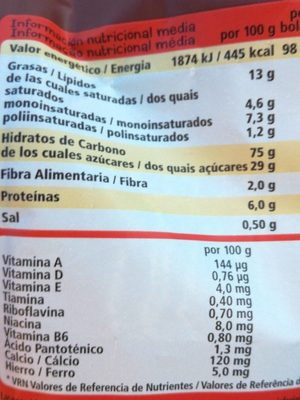 Choco flakes - Nutrition facts