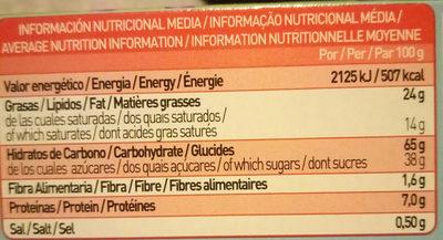 Tosta Rica Oceanix Choc & Play galletas con chocolate blanco y con leche - Nutrition facts - es