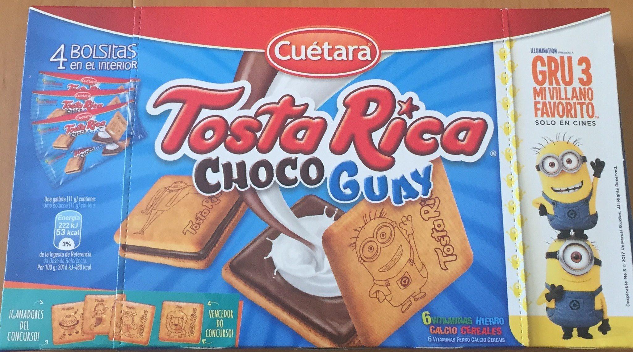 Choco guay galletas tostadas rellenas de chocolate - Producte - es