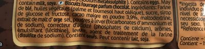 Bocaditos Chocolate - Ingredients - fr