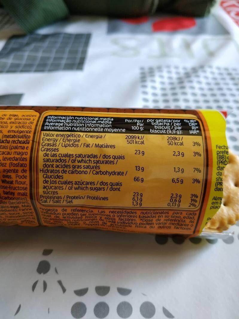 Bocaditos Chocolate - Informació nutricional - fr