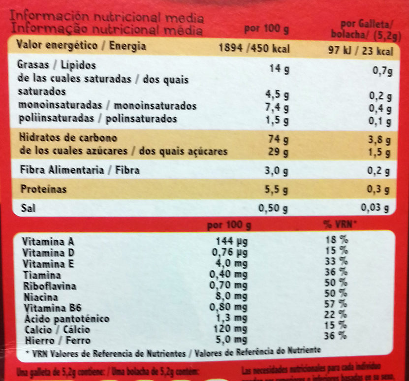 Choco Flakes - Nutrition facts - es