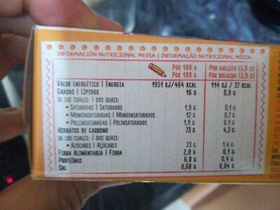 TostaRica - Voedingswaarden