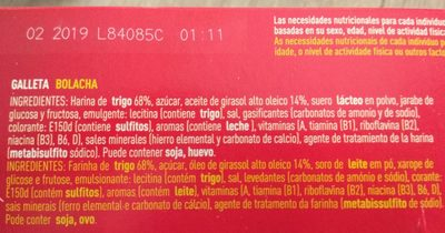 Galletas Tosta Rica Mini Go Cuétara - Ingredients