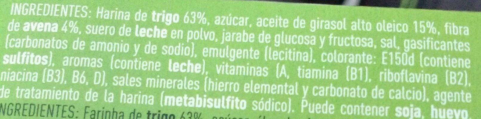 Tosta rica fibra - Ingredients - es