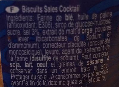 Cocktail Snack - Ingrediënten
