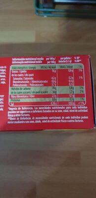 Flakes nocilla - Informació nutricional - es