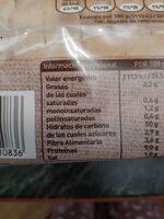 Pan Blanco estilo Rústico - Informations nutritionnelles