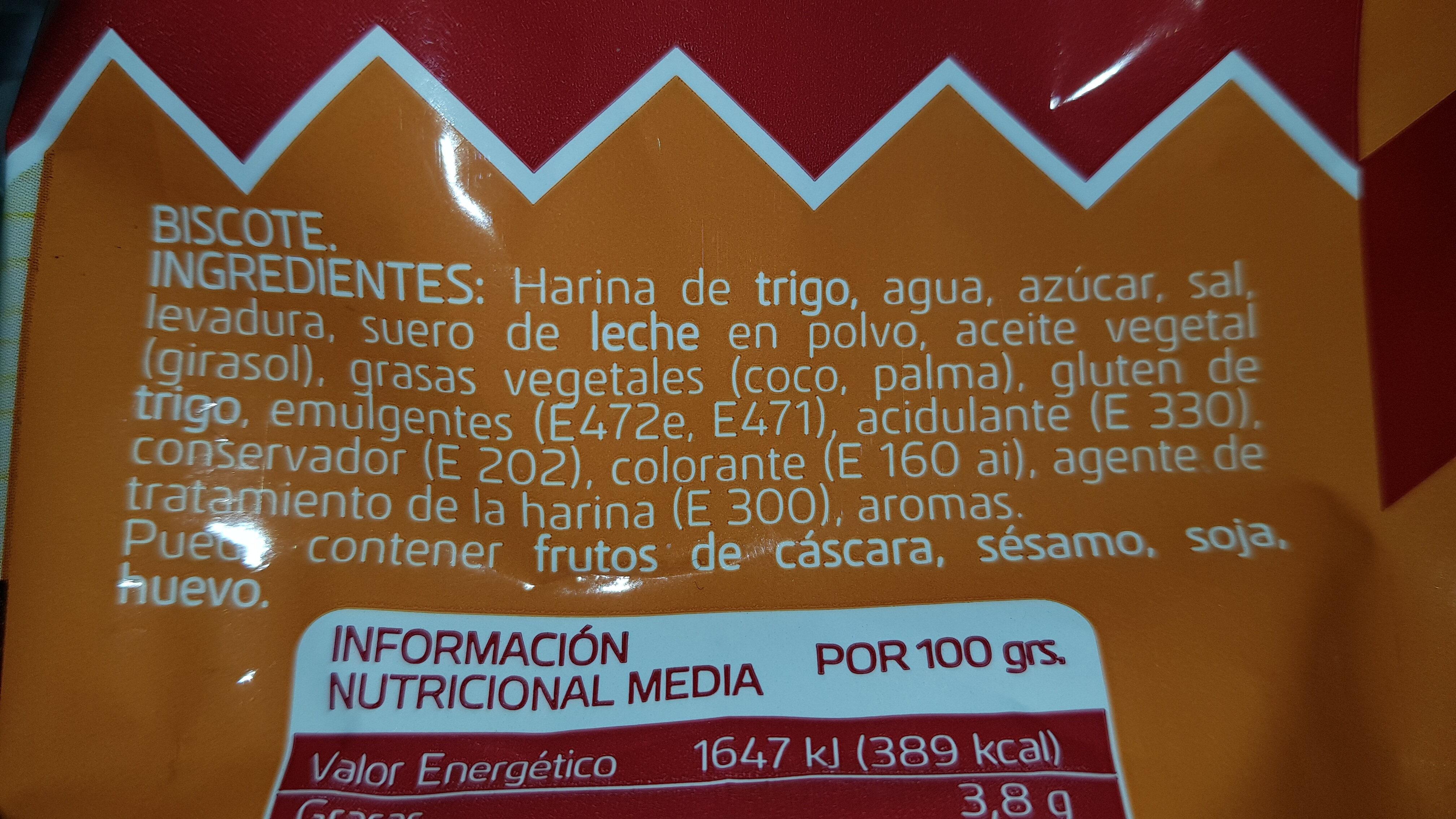 Mini tostadas - Ingredientes