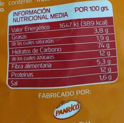 Mini tostadas - Información nutricional