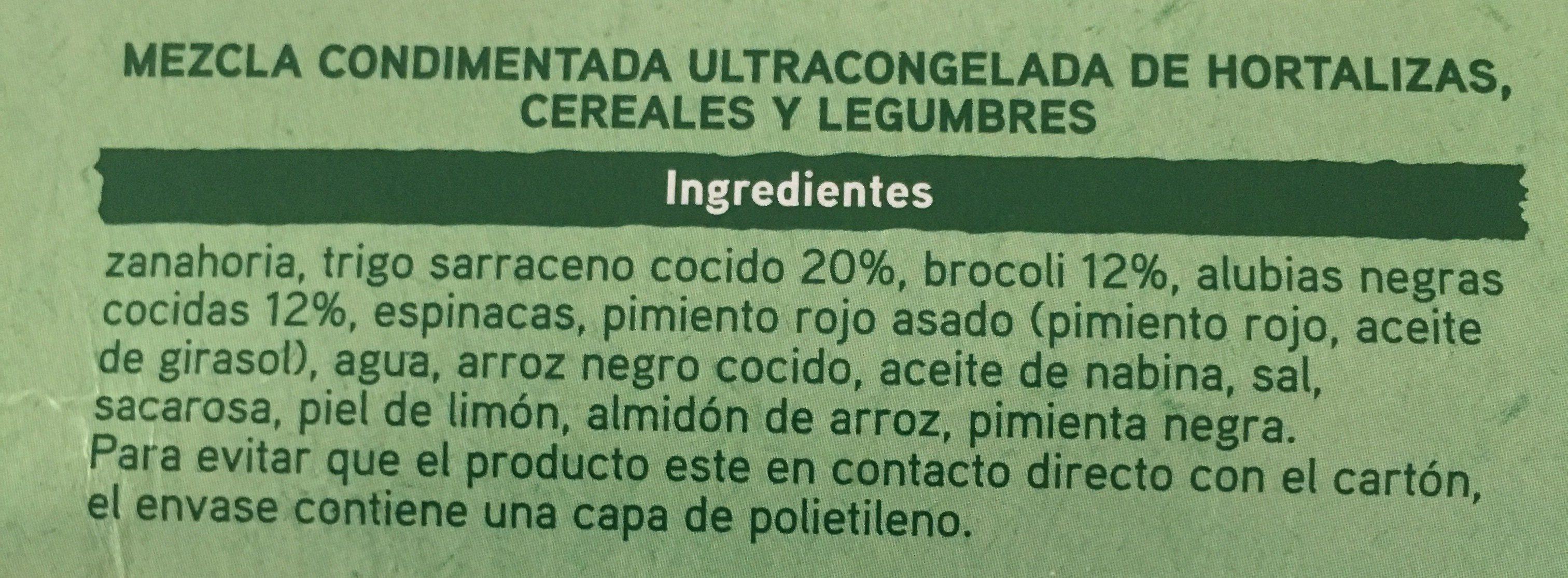 Super Veggie con brócoli, trigo sarraceno y alubias - Ingrédients