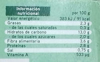 Super Veggie con brócoli, trigo sarraceno y alubias - Informations nutritionnelles