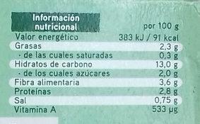 Super Veggie con brócoli, trigo sarraceno y alubias - Información nutricional