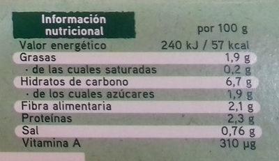 Super Veggie con calabacín, bulgur y garbanzos - Información nutricional