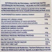 Leche entera de los Alpes bio - Información nutricional