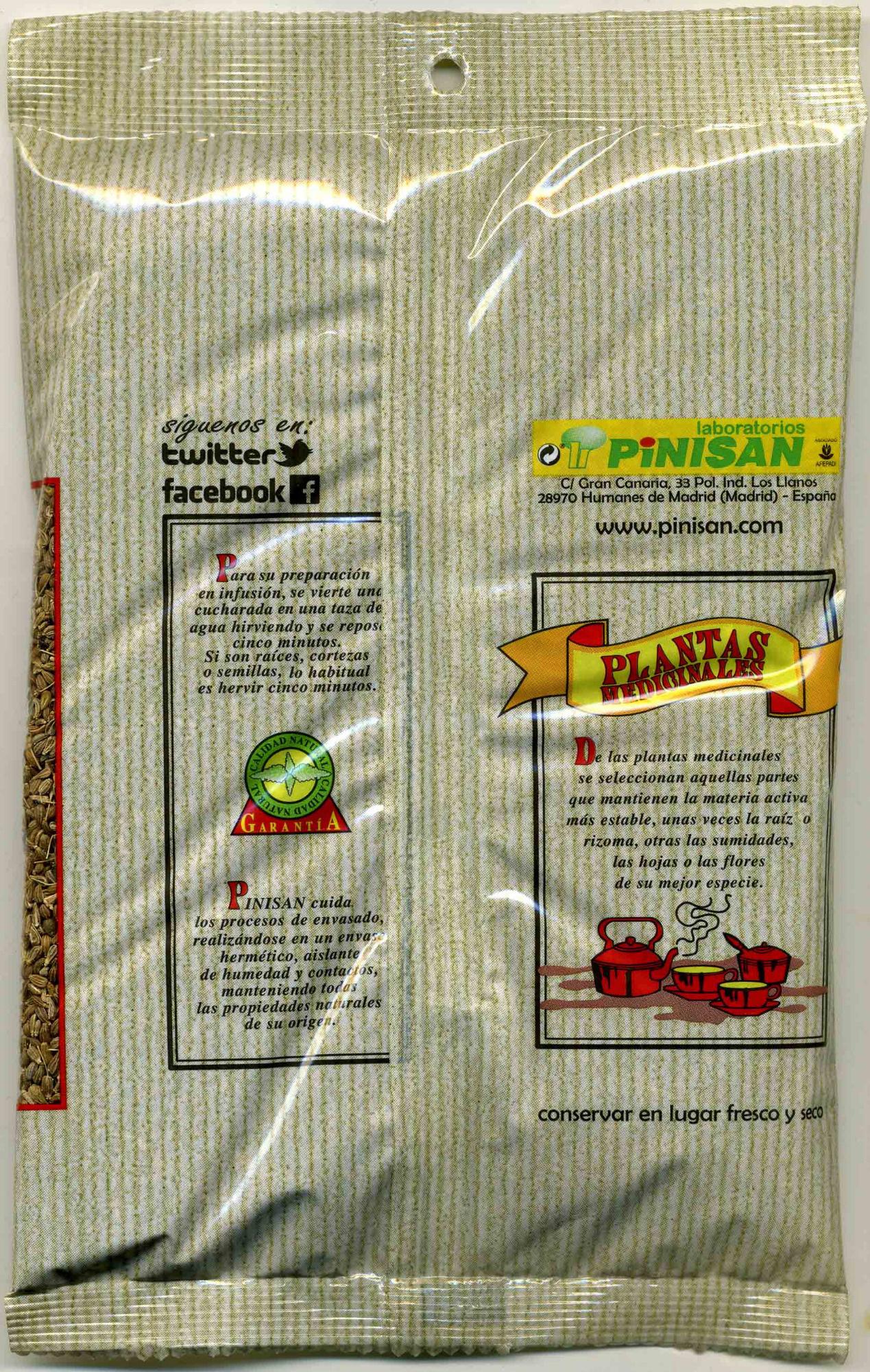 Anís verde - Informació nutricional - es