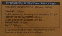Mazapán - Informations nutritionnelles - fr