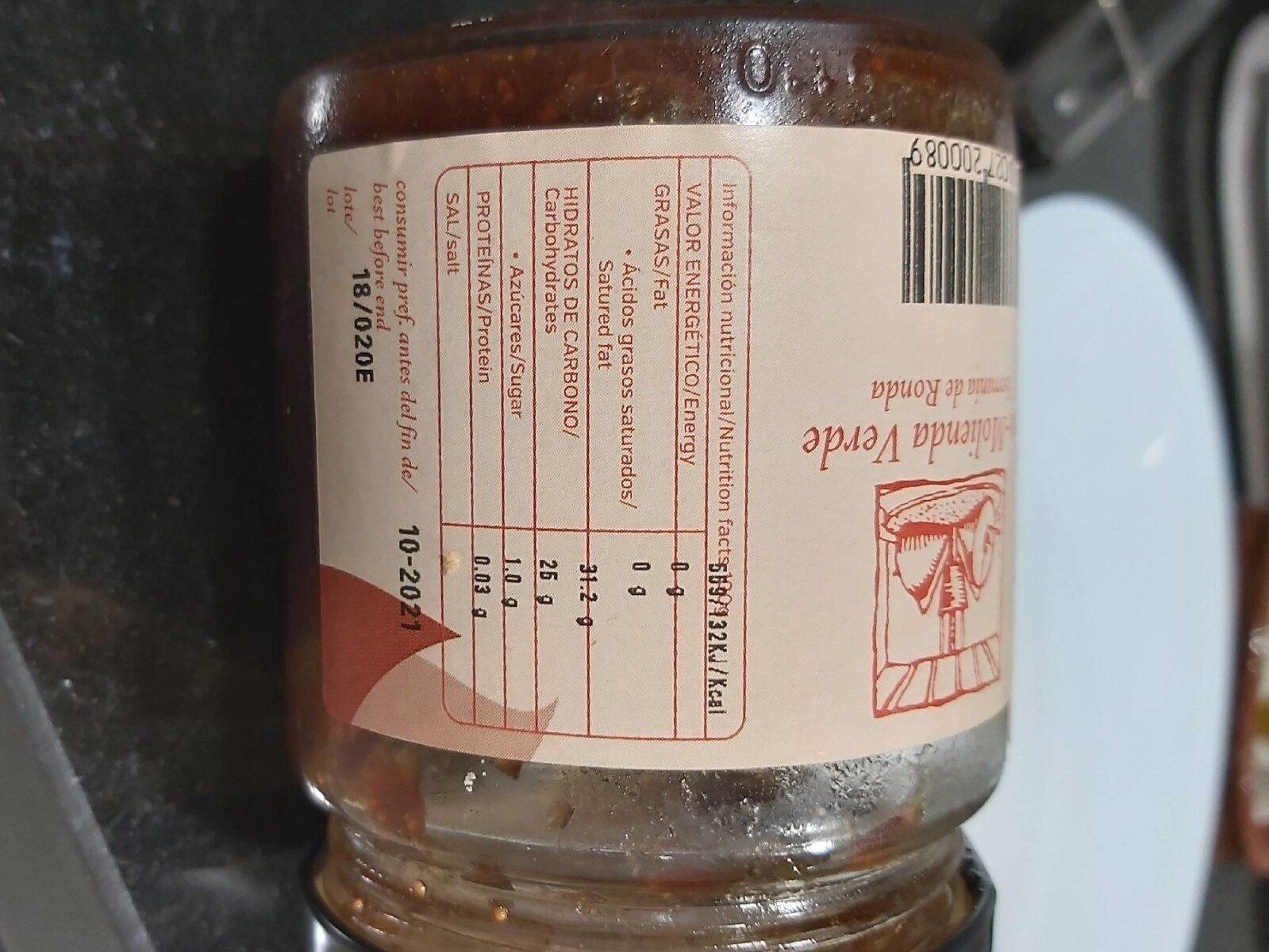 Mermelada de higos - Nutrition facts