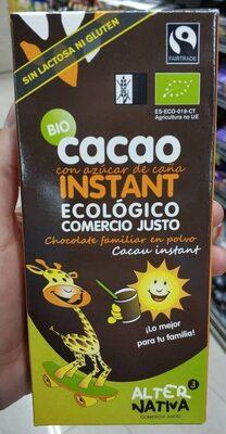 Cacao instantáneo ecológico sin lactosa y sin gluten - Product - fr