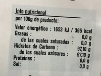 Azúcar de caña golden light - Nutrition facts