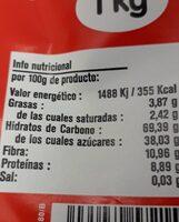 Chocolate a la taza - Nutrition facts - es