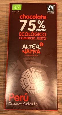 Chocolate ecológico 75% - Product - es