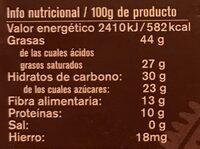 Chocolate ecológico 75% - Nutrition facts - es