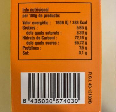 Cococao cacau - Nutrition facts - es