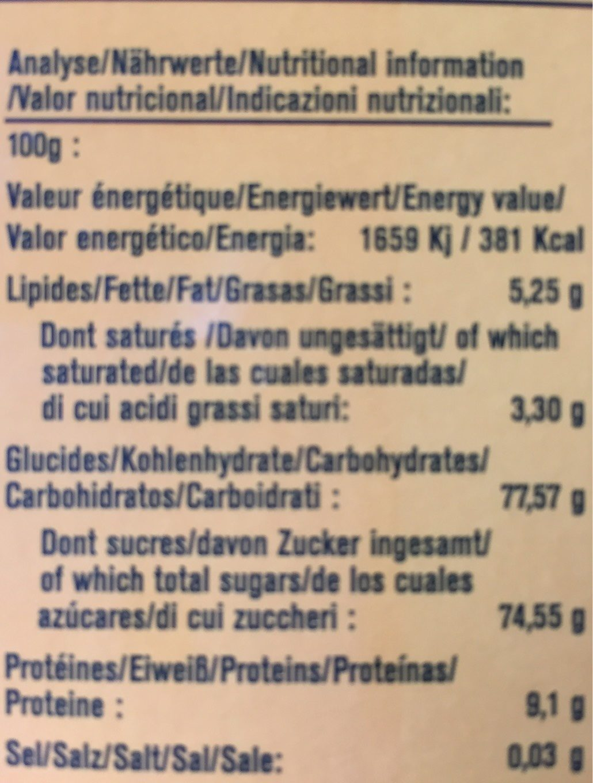 Chocolat chaud - Informations nutritionnelles - fr