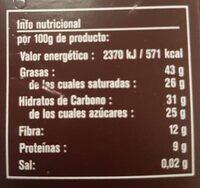 Chocolate con nibs de cacao ecológico comercio justo 70% cacao - Voedingswaarden