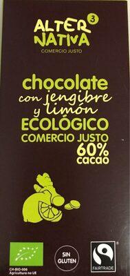 Chocolate con jengibre y limon ecologico - Product - es