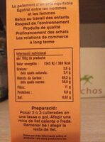 Cacau instant ecològic just - Informació nutricional - es