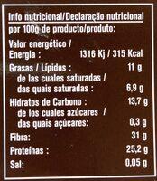 Cacao puro desgrasado - Nutrition facts - es