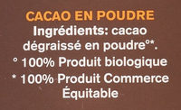 Cacau pur desgreixat - Ingredients - fr