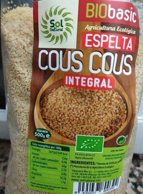 Cous cous espelta integral - Producto