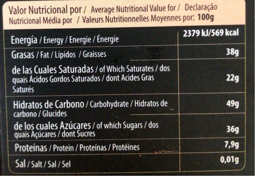 Bio Chocolate almendras tostadas - Información nutricional - es