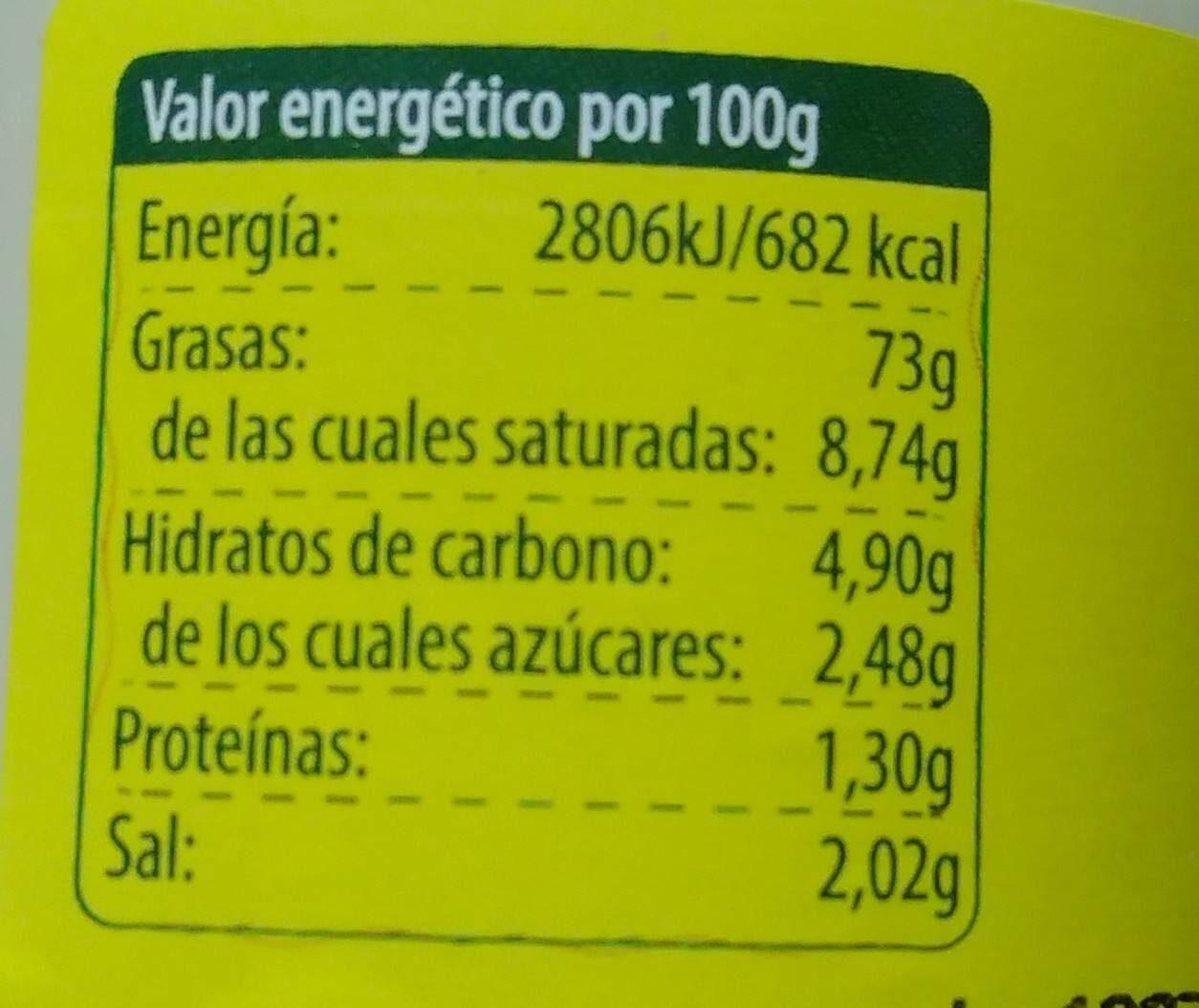 AlliOli Ecológico - Voedingswaarden