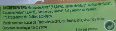 Choco Arroz BIO ( Cereales sin gluten) - Ingredients - es