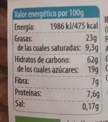Galletas de muesli - Informació nutricional - es