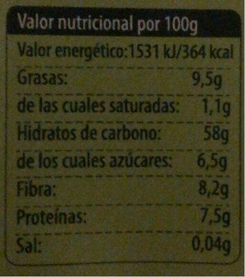 Avena Copos de Avena y coco - Informació nutricional - es