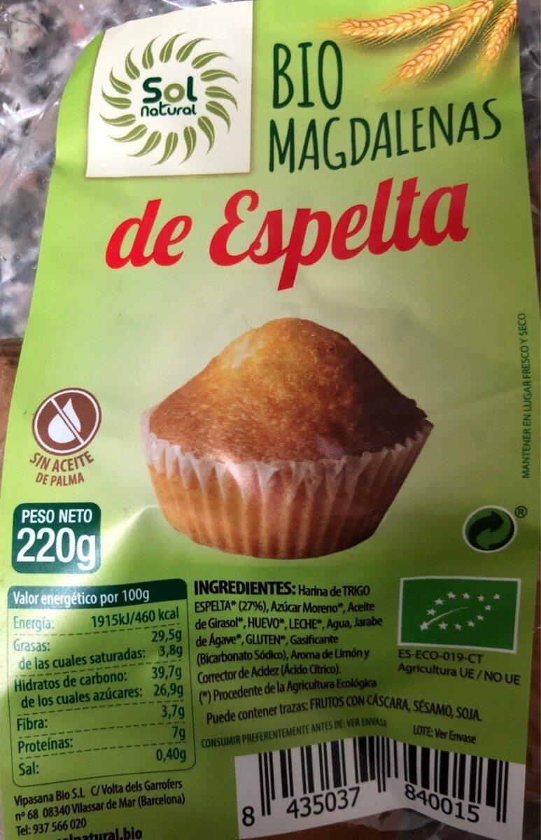 Bio magdalenas de espelta - Produit - es