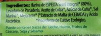 Bio Tostadas Espelta - Ingredientes