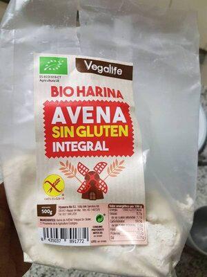 Bio harina Avena sin gluten integral