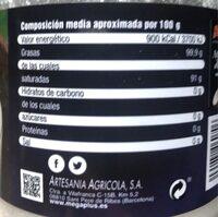Aceite de Coco - Nutrition facts - es