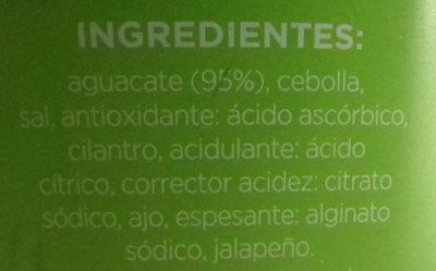 Guacamole suave - Ingrediënten - es