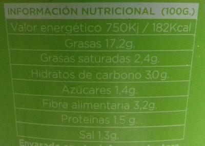 Guacamole suave - Voedingswaarden - es