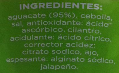 Guacamole picante - Ingredientes - es